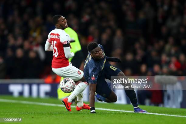 Paul Pogba of Manchester United during the FA Cup Fourth Round match between Arsenal and Manchester United at Emirates Stadium on January 25 2019 in...
