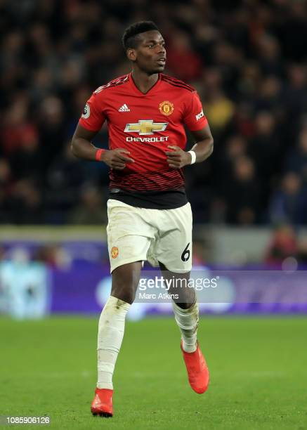 Paul Pogba of Manchester United during the Premier League match between Cardiff City and Manchester United at Cardiff City Stadium on December 22...