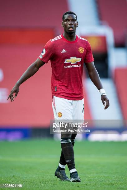Paul Pogba of Manchester United during the Premier League match between Manchester United and Crystal Palace at Old Trafford on September 19 2020 in...