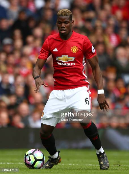 Paul Pogba of Manchester United during the Premier League match between Manchester United and Crystal Palace at Old Trafford on May 21 2017 in...