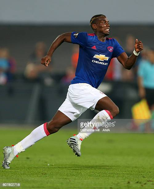 Paul Pogba of Manchester United during the UEFA Europa League match between Feyenoord and Manchester United at Feijenoord Stadion on September 15...