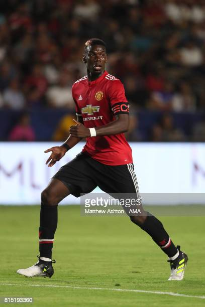 Paul Pogba of Manchester United during to the friendly fixture between LA Galaxy and Manchester United at StubHub Center on July 15 2017 in Carson...