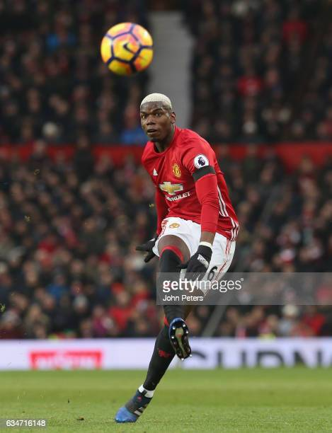 Paul Pogba of Manchester United in action during the Premier League match between Manchester United and Watford at Old Trafford on February 11 2017...