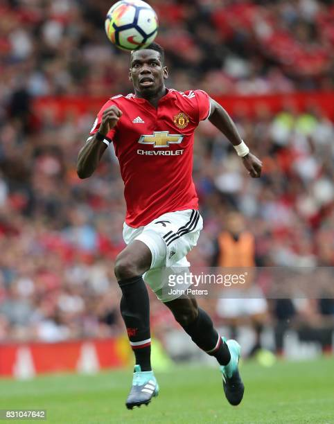Paul Pogba of Manchester United in action during the Premier League match between Manchester United and West Ham United at Old Trafford on August 13...