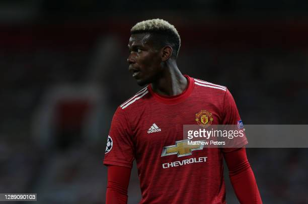 Paul Pogba of Manchester United in action during the UEFA Champions League Group H stage match between Manchester United and Paris Saint-Germain at...