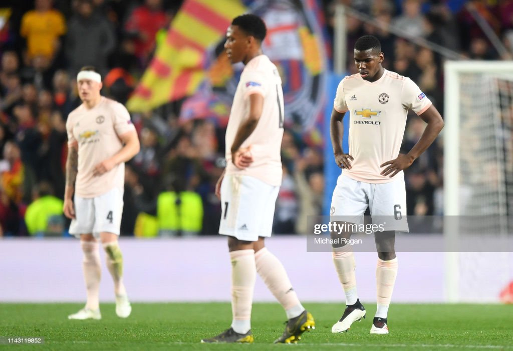 FC Barcelona v Manchester United - UEFA Champions League Quarter Final: Second Leg : Nachrichtenfoto
