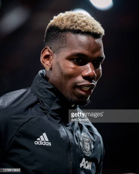 Paul Pogba of Manchester United warms up prior to the UEFA Champions League Group H stage match between Manchester United and Paris Saint-Germain at...
