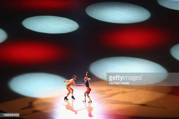 Paul Poirier and Piper Gilles OF Canada perform during the Gala Exhibition on day three of the ISU Grand Prix of Figure Skating Trophee Eric Bompard...