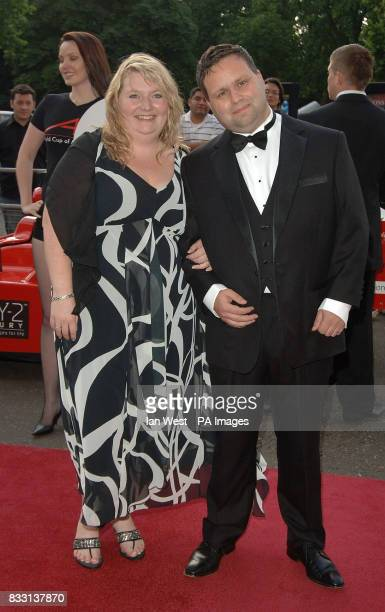 Paul Potts and his wife Julie Ann arrive at the A1 Grand Prix Ball at the Royal Albert Hall in London
