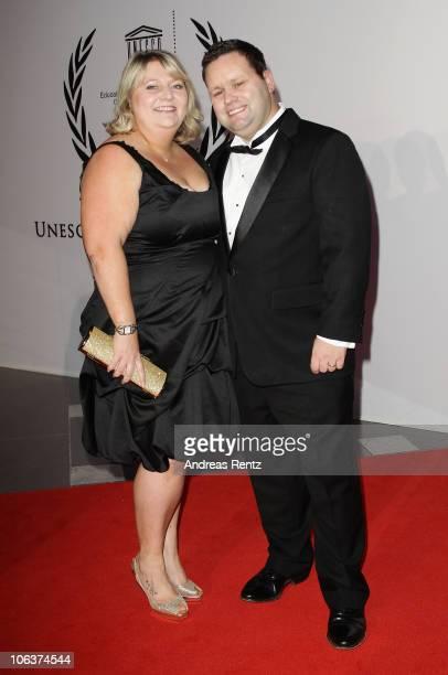 Paul Potts and his wife JulieAnn Potts arrive for the UNESCO CharityGala 2010 at Maritim Hotel on October 30 2010 in Duesseldorf Germany