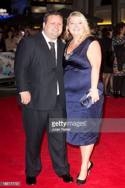 Paul Potts and his wife JulieAnn Potts attend the European premiere of One Chance at Odeon Leicester Square on October 17 2013 in London England