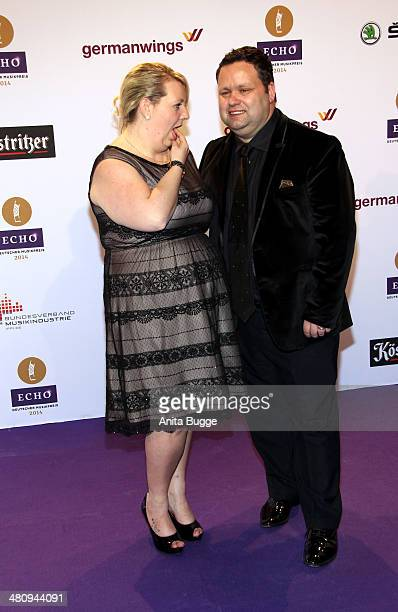 Paul Potts and Julie Ann Potts attend the 'Echo Award 2014' on March 27 2014 in Berlin Germany