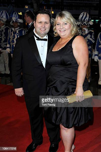 Paul Potts and JulieAnn Potts attend the UNESCO CharityGala 2010 at Maritim Hotel on October 30 2010 in Duesseldorf Germany