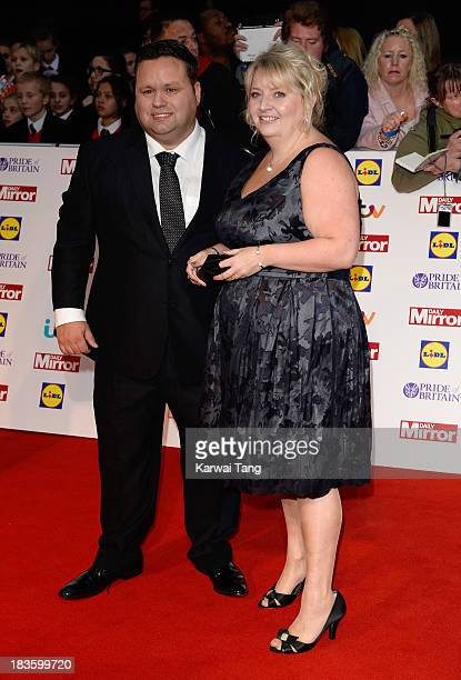 Paul Potts and wife Julie-Ann Potts attend the Pride of Britain awards at the Grosvenor House, on October 7, 2013 in London, England.