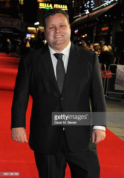 Paul Potts attends the One Chance European premiere at the Odeon Leicester Square on October 17 2013 in London England
