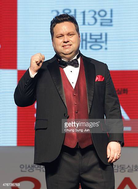 Paul Potts attends the One Chance premiere at Times Square on March 5 2014 in Seoul South Korea The 'One Chance' which will be released in South...