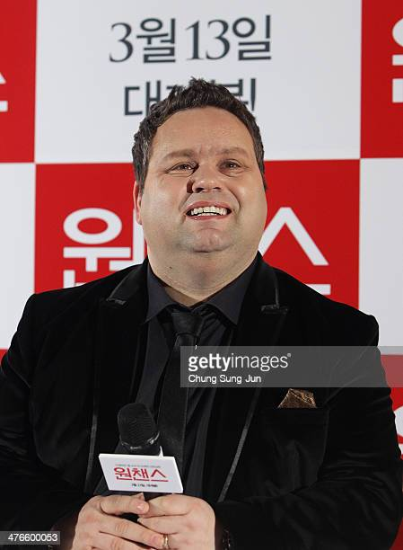 Paul Potts attends the press conference for One Chance CGV Yongsan on March 4 2014 in Seoul South Korea The One Chance which will be released in...