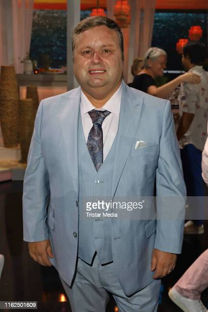 Paul Potts during the television show Willkommen bei Carmen Nebel at BadenArena on July 13 2019 in Offenburg Germany