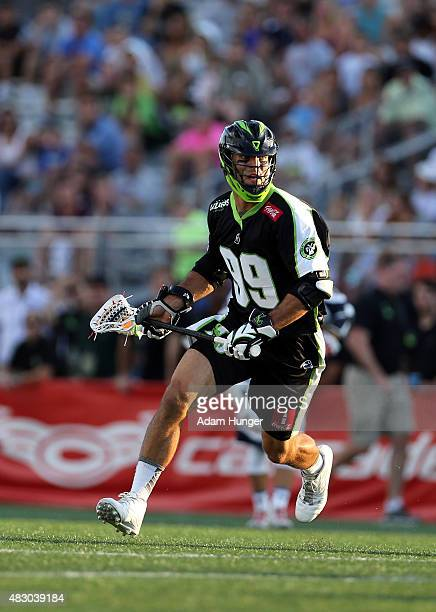 Paul Rabil of the New York Lizards in action against the Boston Cannons at James M Shuart Stadium on August 1 2015 in Hempstead New York