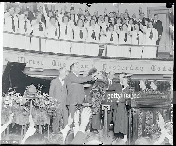 Paul Rader famous evangelist is having 'healing services' This religious service or institution founded by Aimee Semple McPherson is to 'save souls...