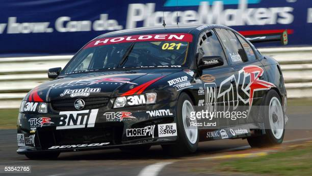 Paul Radisich in his Team Kiwi Racing Commodore on his way to setting third fastest time during the first practice session of the V8 Supercars at...