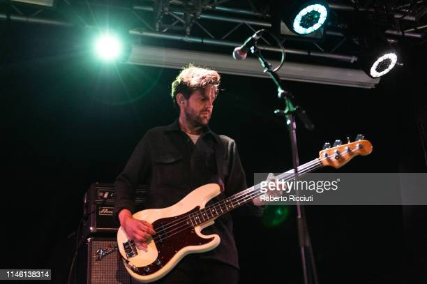 Paul Rafferty, touring bass guitarist of Maximo Park, performs onstage at The Liquid Room on May 24, 2019 in Edinburgh, Scotland.