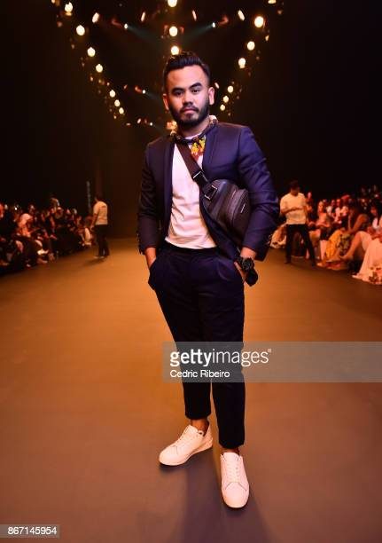 Paul Ramos attends the Atelier Zuhra show during Day 2 of Fashion Forward October 2017 held at the Dubai Design District on October 27 2017 in Dubai...
