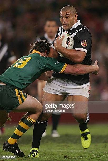 Paul Rauhihi of the Kiwis in action during the ARL Test Match between the Australian Kangaroos and the New Zealand Kiwis at Suncorp Stadium on April...
