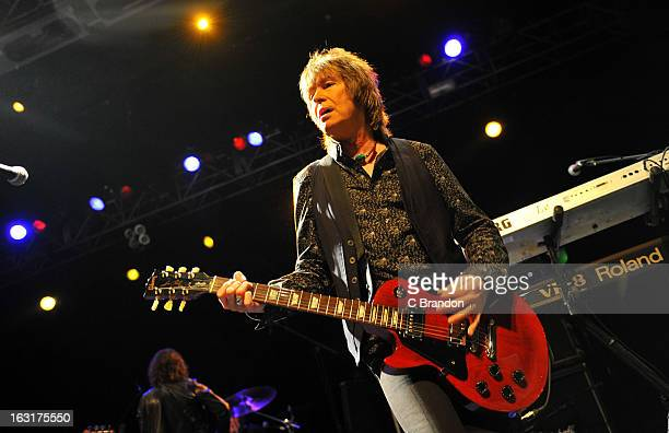 Paul Raymond of UFO performs on stage at The Forum on March 5 2013 in London England