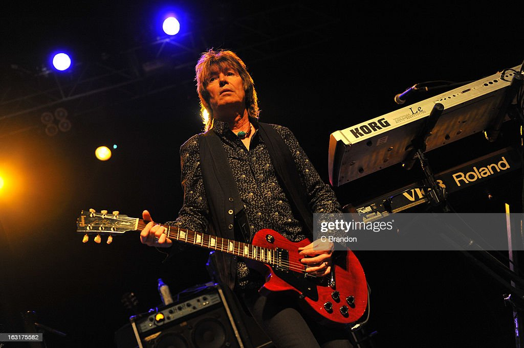 Paul Raymond of UFO performs on stage at The Forum on March 5, 2013 in London, England.