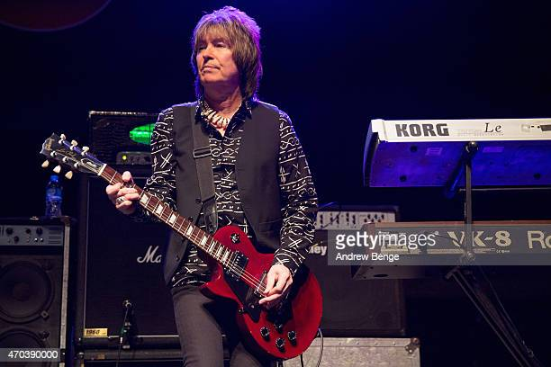 Paul Raymond of UFO performs on stage at The Ritz Manchester on April 19 2015 in Manchester United Kingdom