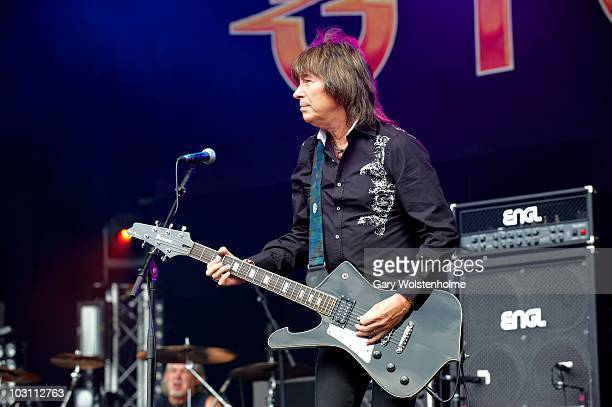 Paul Raymond of UFO performs on stage during day two of High Voltage Festival at Victoria Park on July 25 2010 in London England