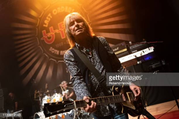 Paul Raymond of UFO performs onstage Last Orders 50th Anniversary tour at The Queen's Hall on March 29 2019 in Edinburgh Scotland