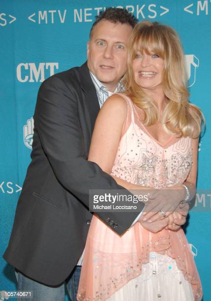 Paul Reiser and Goldie Hawn during 2005/2006 MTV Networks UpFront at The Theatre at Madison Square Garden in New York City New york United States