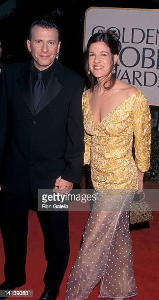 Paul Reiser and Paula Ravets at the 55th Annual Golden Globe Awards Beverly Hilton Hotel Beverly Hills