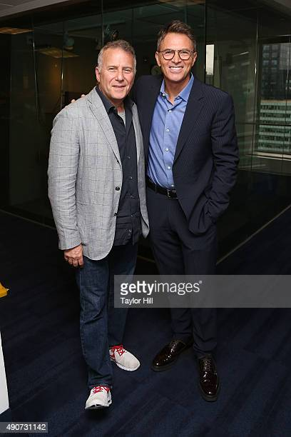 Paul Reiser and Tim Daly have a 'Diner' reunion at SiriusXM Studios on September 30 2015 in New York City