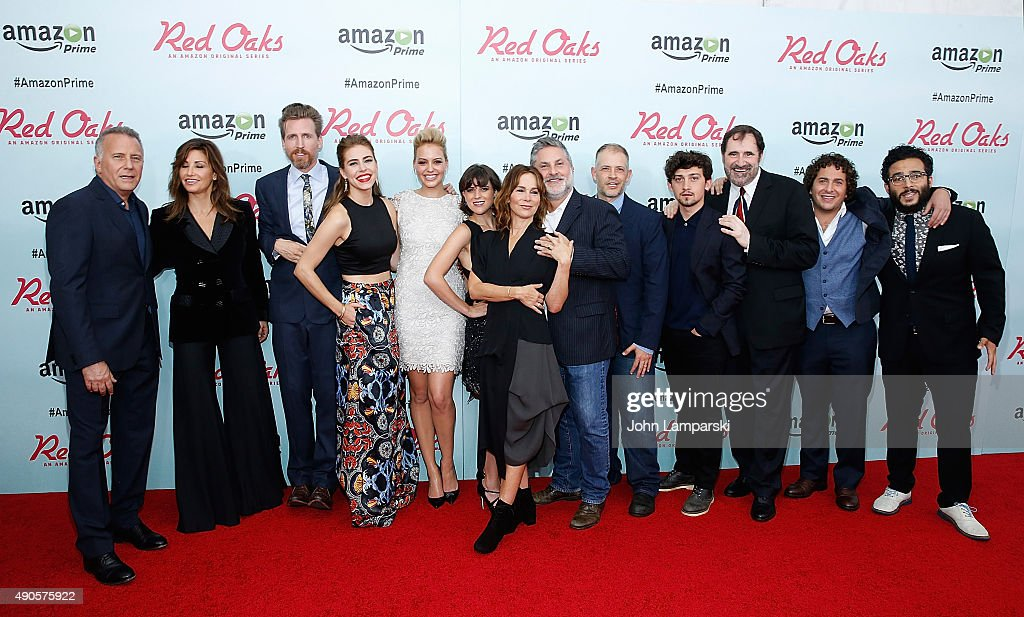 Paul Reiser , Gina Gershon, Jennifer Grey, Richard Kind, Gregory jacobs, Joseh Gangemi and cast members attend 'Red Oaks' series premiere at Ziegfeld Theater on September 29, 2015 in New York City.