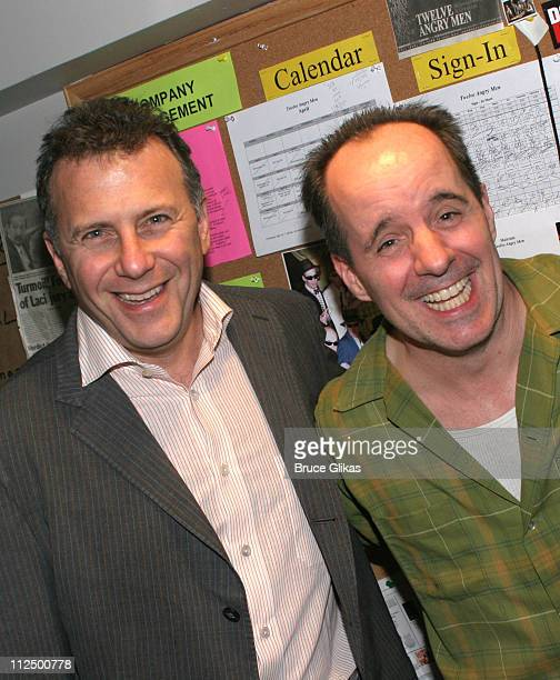 Paul Reiser John Pankow of Mad About You during Mad About You Reunion at Twelve Angry Men on Broadway at The American Airlines Theater in New York...