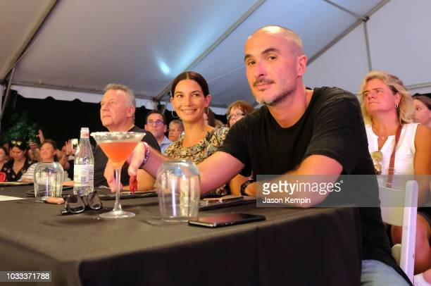 Paul Reiser Lily Aldridge and Zane Lowe attend the Music City Food Wine Festival's Friday Night Throwdown at Bicentennial Capitol Mall State Park on...