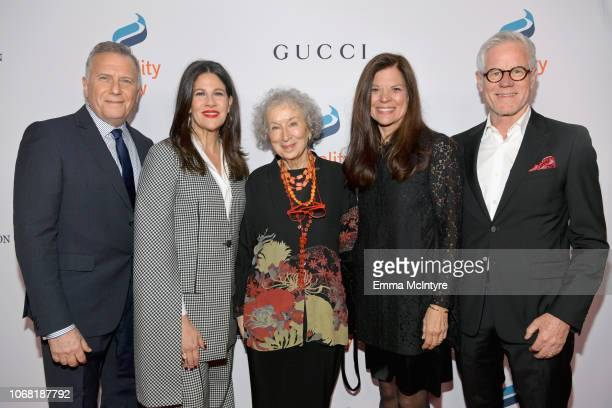 Paul Reiser Paula Ravets Margaret Atwood Susan Smalley and Kevin Wall attend Equality Now's Make Equality Reality Gala 2018 at The Beverly Hilton...