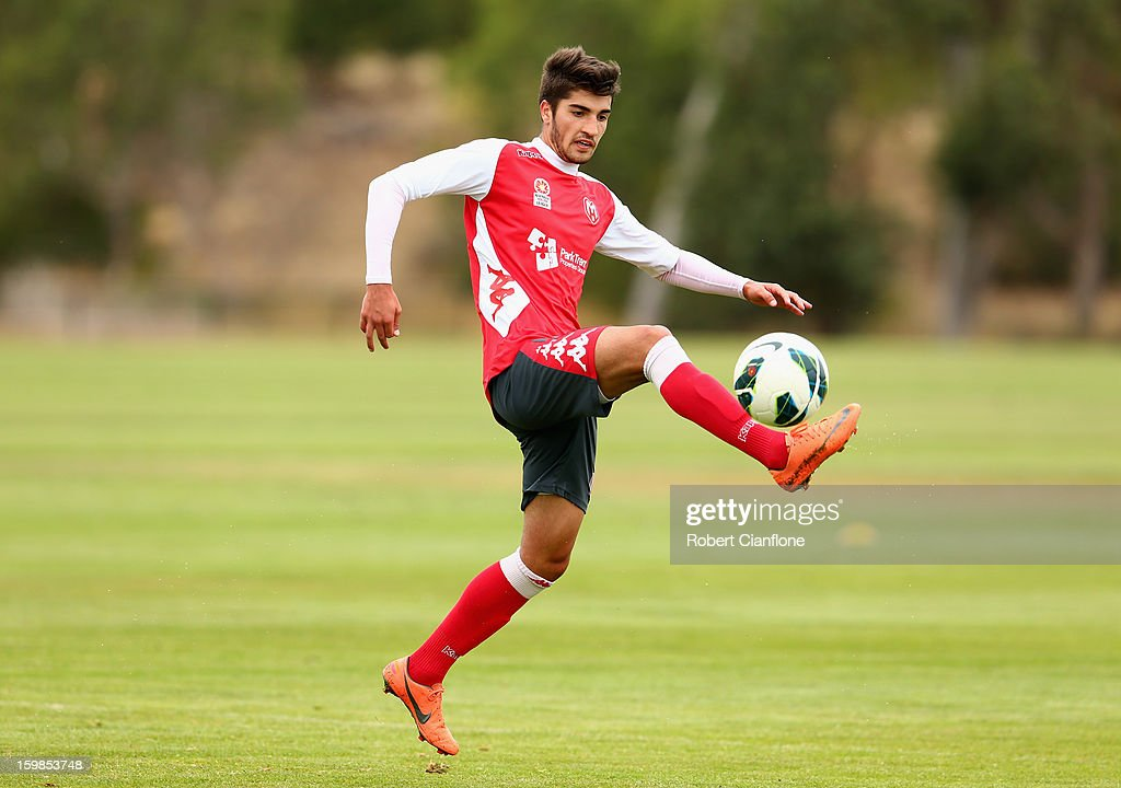Paul Retre of the Heart controls the ball during a Melbourne Heart A-League training session at La Trobe University Sports Fields on January 22, 2013 in Melbourne, Australia.