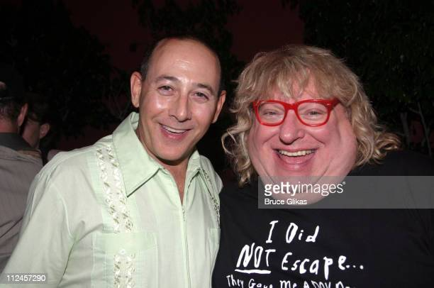 Paul Reubens and Bruce Vilanch during 'Hairspray' Opening Night Los Angeles After Party at Henry Fonda Theatre in Hollywood California United States