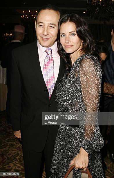 Paul Reubens and Courteney Cox Arquette during AFI Honors Hollywood's Arquette Family With The Sixth Annual 'Platinum Circle Awards' Green Room and...
