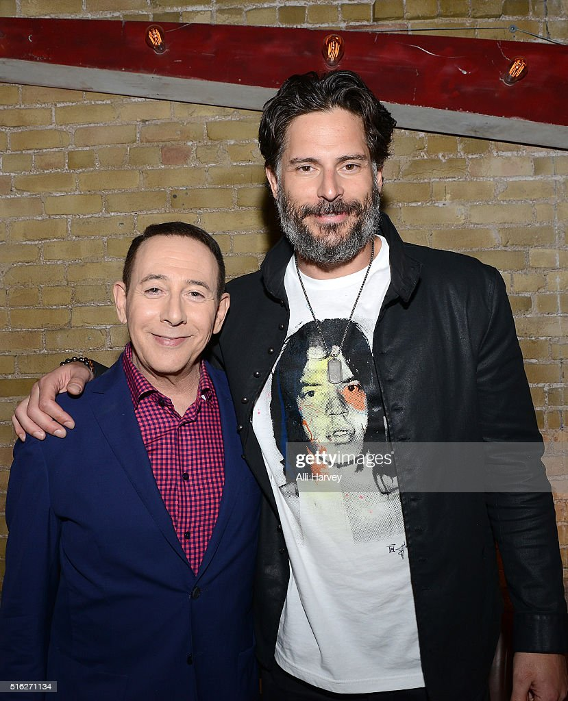 Paul Reubens and Joe Manganiello attend Netflix presents the world premiere of 'Pee-wee's Big Holiday' at SXSW March 17, 2016 in Austin, Texas.