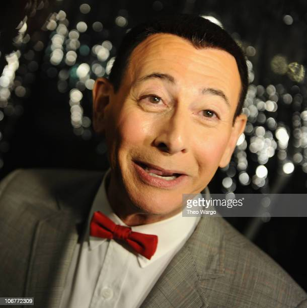 Paul Reubens as Peewee Herman attends the The PeeWee Herman Show Broadway opening night after party at the Bryant Park Grill on November 11 2010 in...