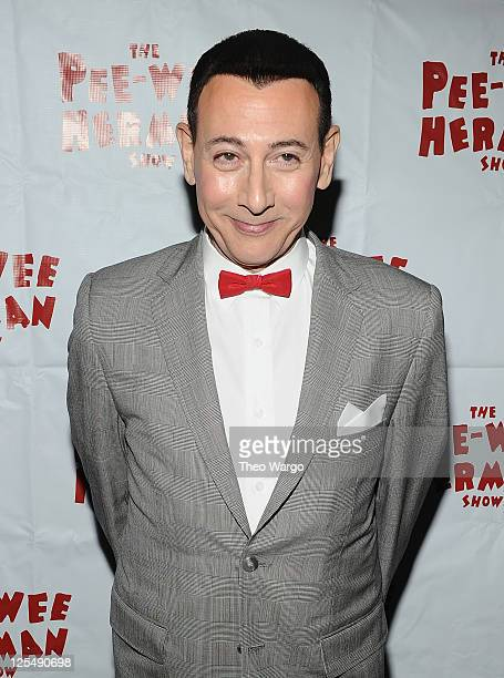 Paul Reubens as 'Peewee Herman' attends the 'The PeeWee Herman Show' Broadway opening night after party at the Bryant Park Grill on November 11 2010...
