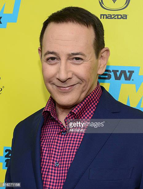 Paul Reubens attends Netflix presents the world premiere of Peewee's Big Holiday at SXSW March 17 2016 in Austin Texas