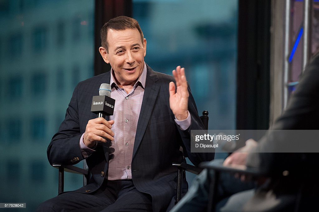 Paul Reubens attends the AOL Build Speaker Series to discuss 'Pee Wee's Big Holiday' at AOL Studios In New York on March 25, 2016 in New York City.