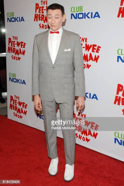 Paul Reubens attends The Pee Wee Herman Show Opening Night at Club Nokia on January 20 2010 in Los Angeles California