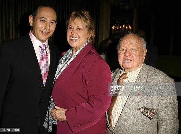 Paul Reubens Jan Rooney and Mickey Rooney during AFI Honors Hollywood's Arquette Family With The Sixth Annual 'Platinum Circle Awards' Green Room and...